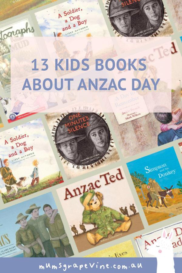 13 kids books about ANZAC Day