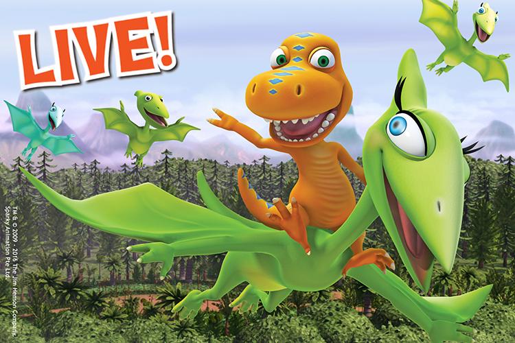 Dinosaur Train Live on stage