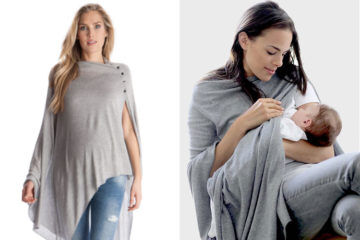 Seraphine - Breastfeeding Bamboo Shawl in Grey