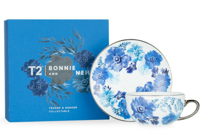 T2 Bonnie & Neil Collectable Cup and Saucer mum gift idea