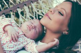 Australian television actress Tammin Sursok and baby daughter