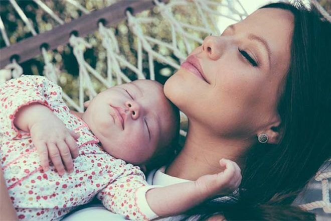 Australian television actress Tammin Sursok and baby daughter Australian celebrity baby names