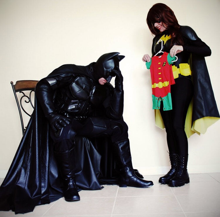 Batman Batgirl superhero pregnancy reveal