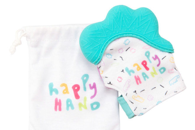 silicone baby teether Happy Hand