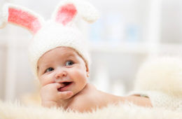 cute easter baby