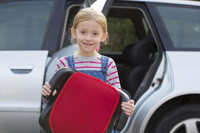 Child booster seat warning