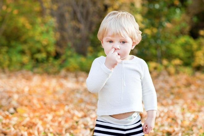 nose picking is actually good for kids