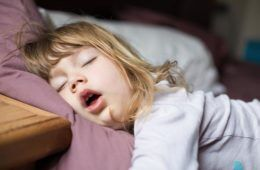 child asleep mouth open snoring