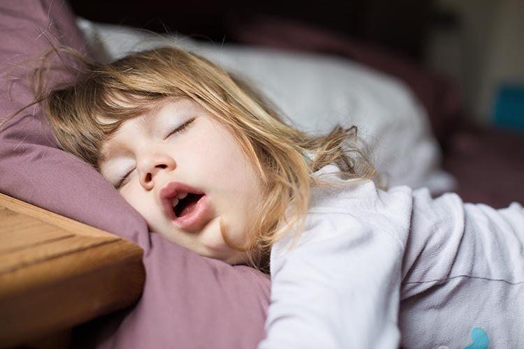 snoring children child asleep mouth open