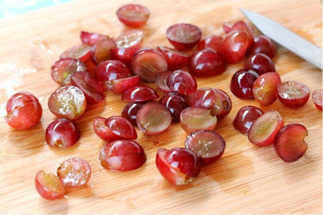 grapes cut in half