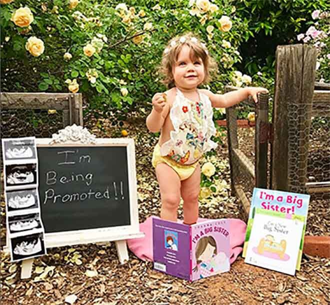 pregnancy announcement ideas for siblings big sister