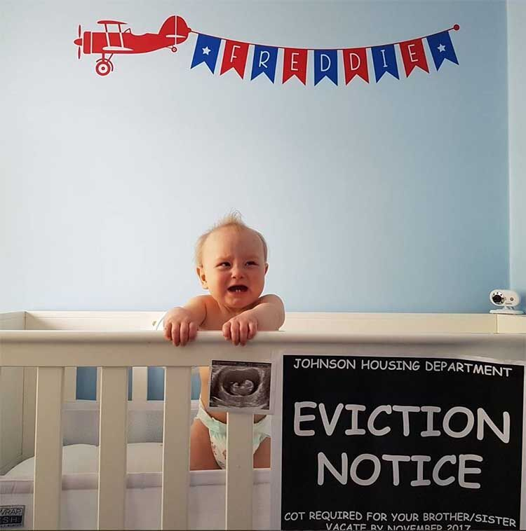 pregnancy announcement ideas eviction notice
