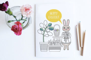 nomad colorables etsy easter printable easter card