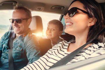 happy family roadtrip