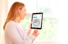 Genea App IVF watching on ipad