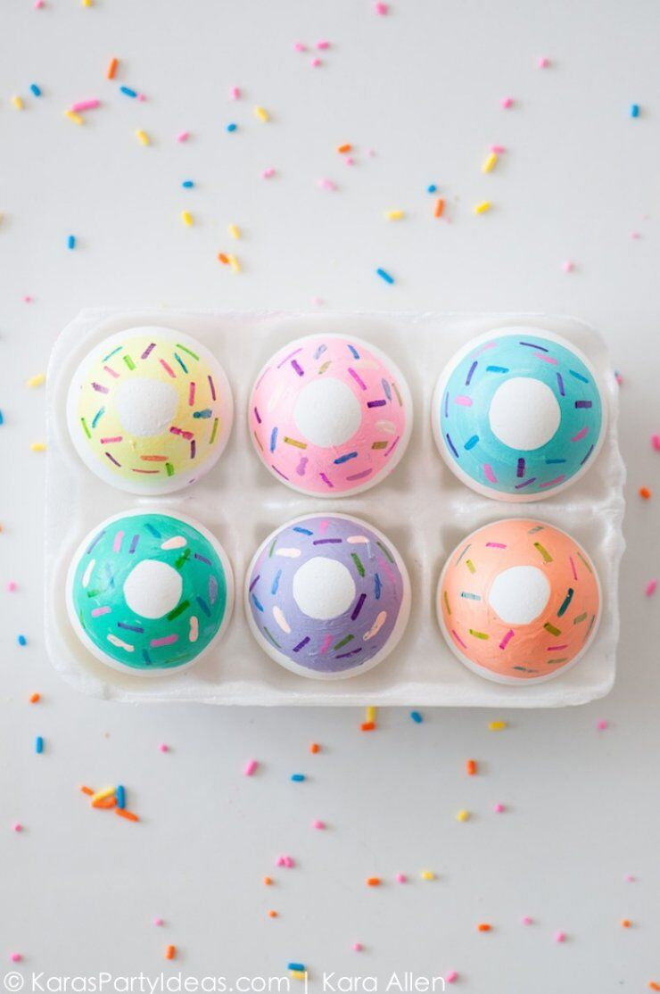 donut painted easter eggs