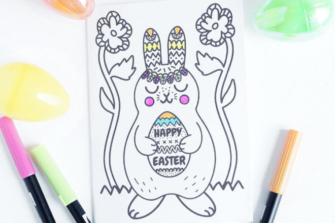 Easter colouring sheet printable