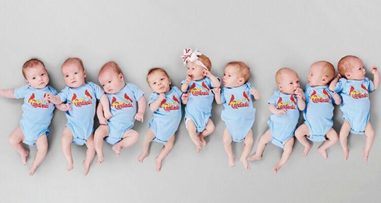 MoBap Baseball Team triplet babies