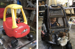 Little Tykes Cozy Coupe turned into Mad Max Car