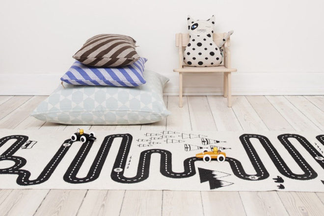 OYOY Adventure rug road play mat