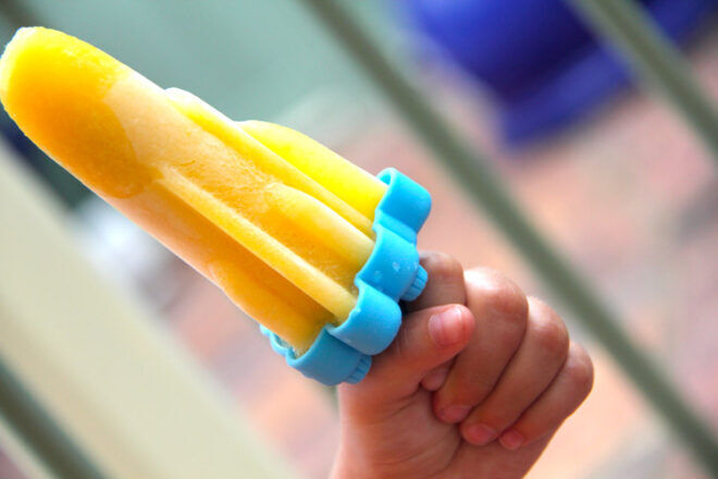 Cooking with kids homemade lemonade icy pole