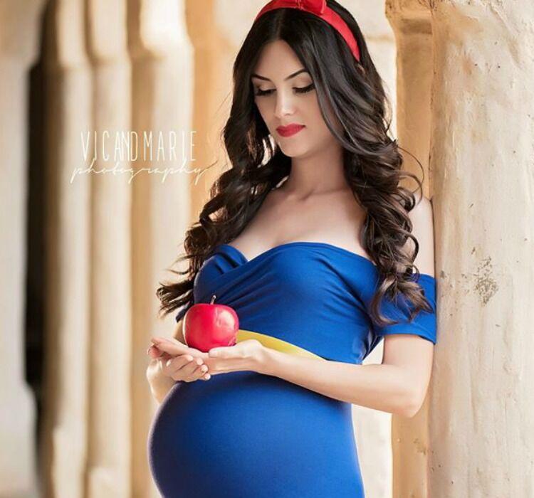 Disney princess maternity photo shoot Snow White