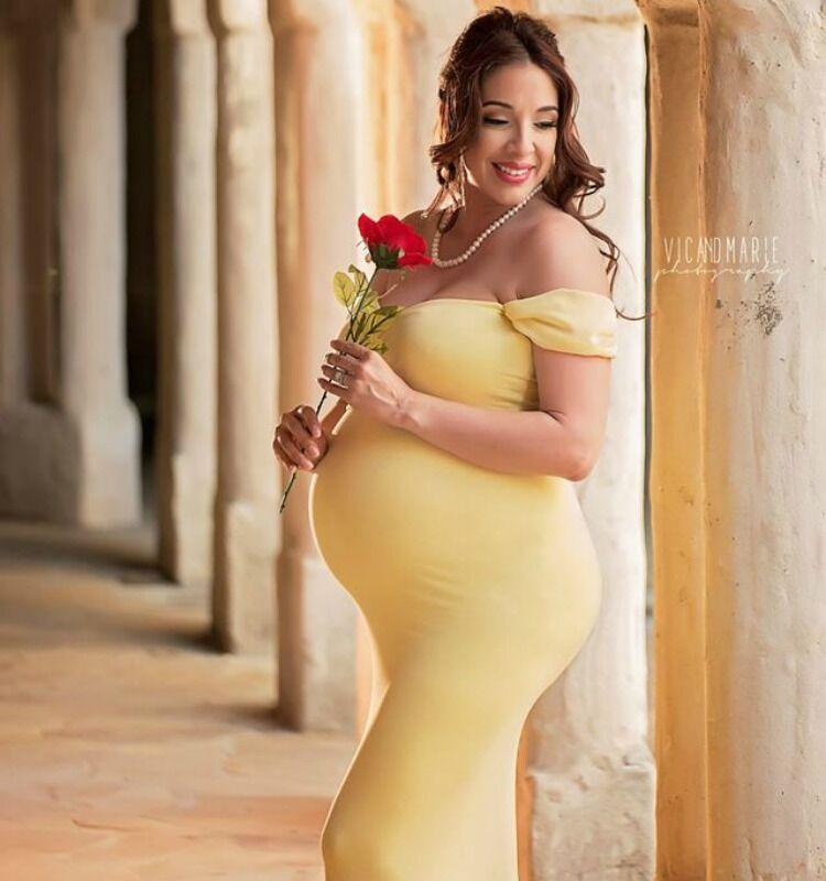 Disney princess pregnancy photo shoot Belle