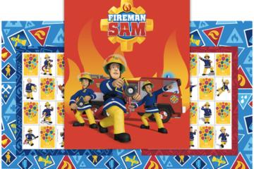 Fireman Sam turns 30 postage stamps
