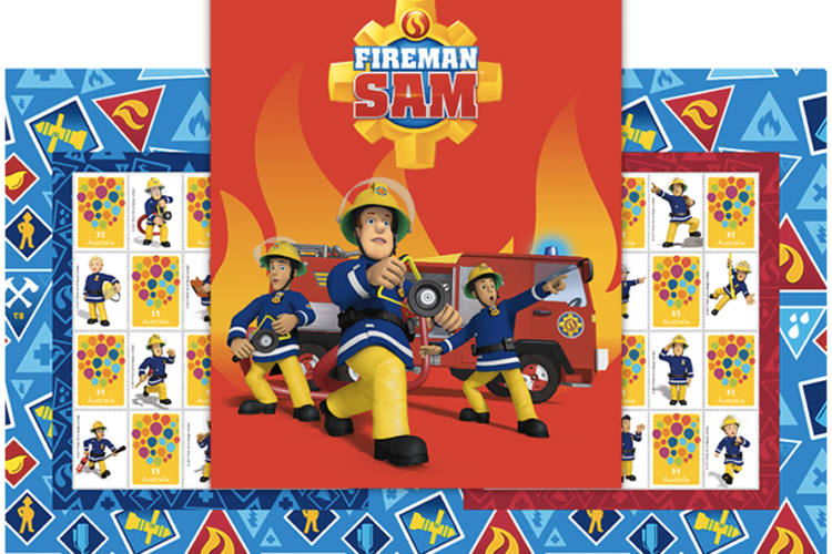 Fireman Sam turns 30 postage stamps
