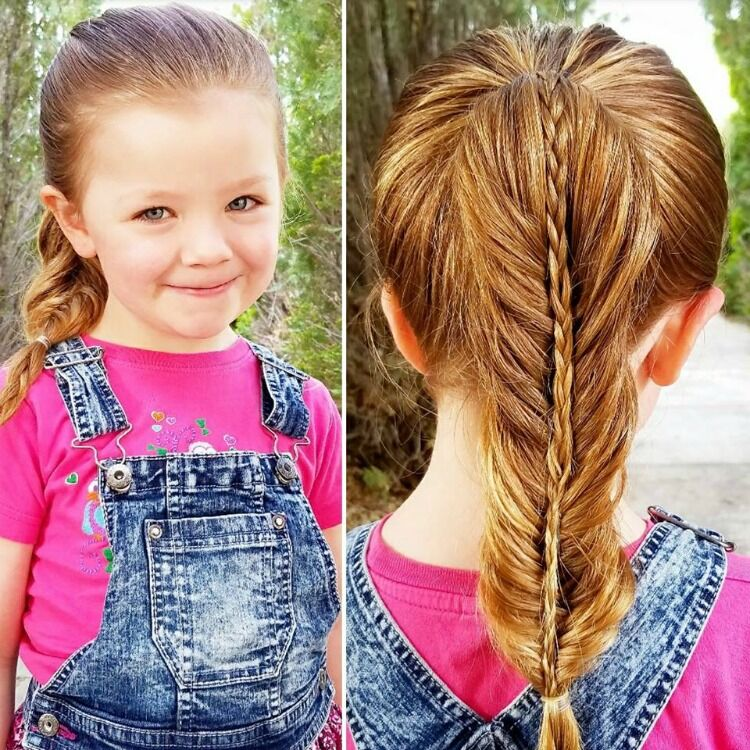 how to do a stacked fishtail braid