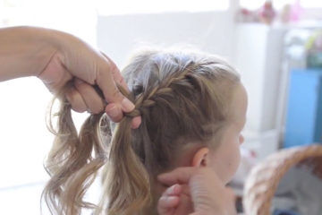 How to French braid long hair