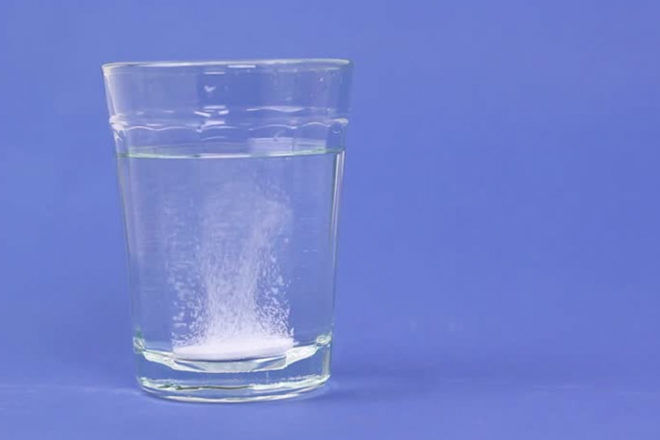 Glass for water and gastrolite