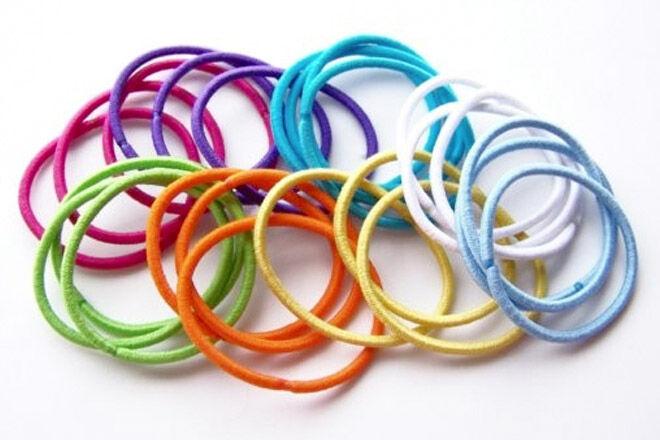 pile of coloured hair ties