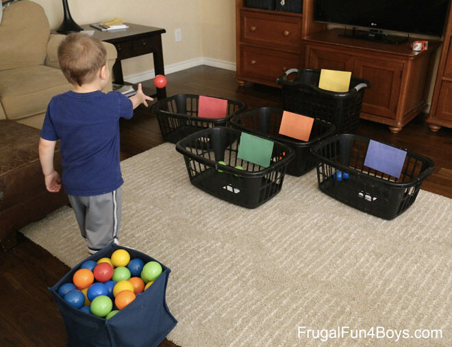 Laundry basket ball game