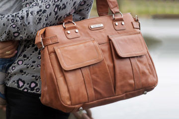 Vanchi Sydney Satchel Leather in Chestnut