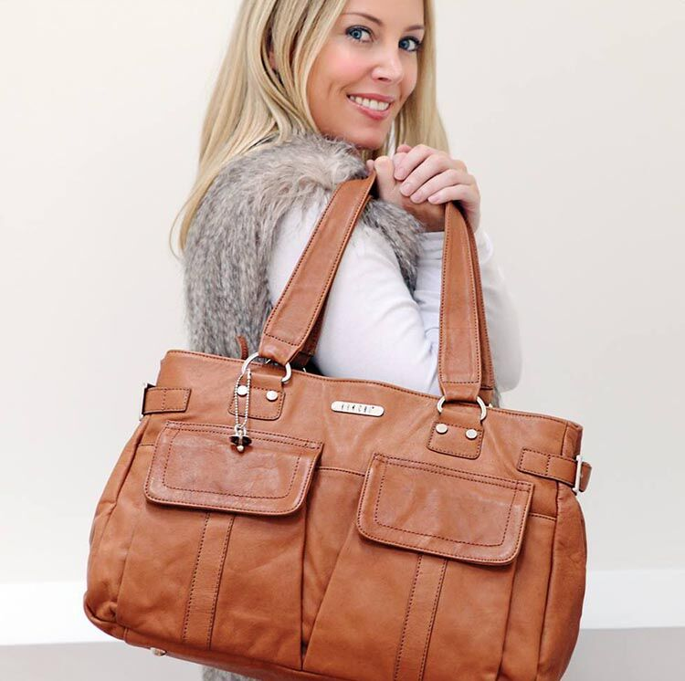 Vanchi Sydney Satchel leather nappy bag