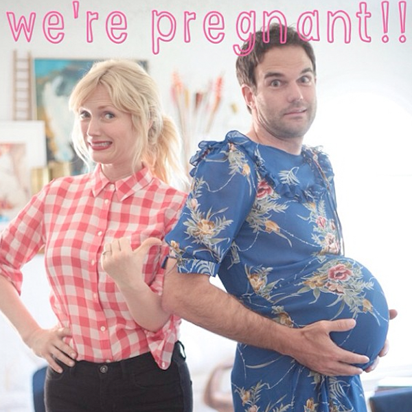 We're pregnant announcement poster