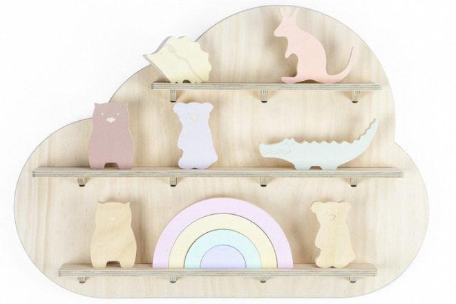 nursery wooden shelf One Two Tree