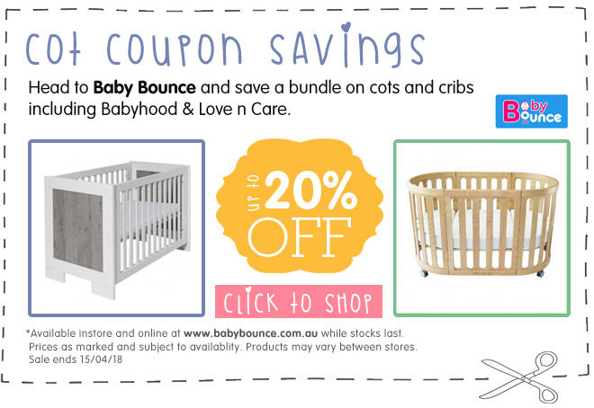 Discounted cots on sale at Baby Bounce coupon