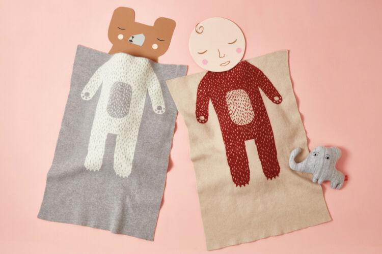 Donna Wilson Bear baby blanket