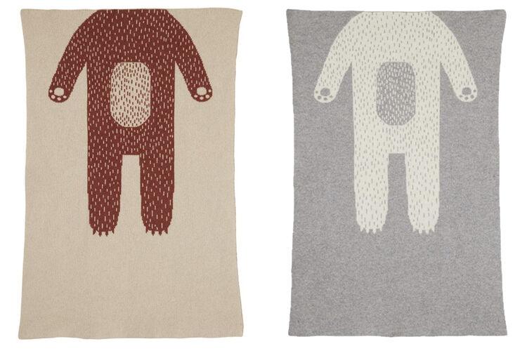 Donna Wilson bear mini blanket