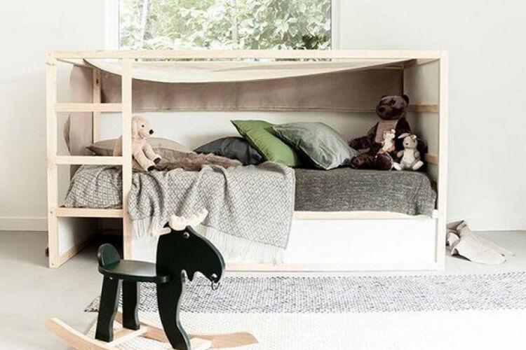 IKEA KURA bed makeover