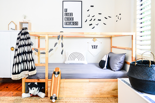 5 easy and stylish makeovers for the IKEA KURA bed