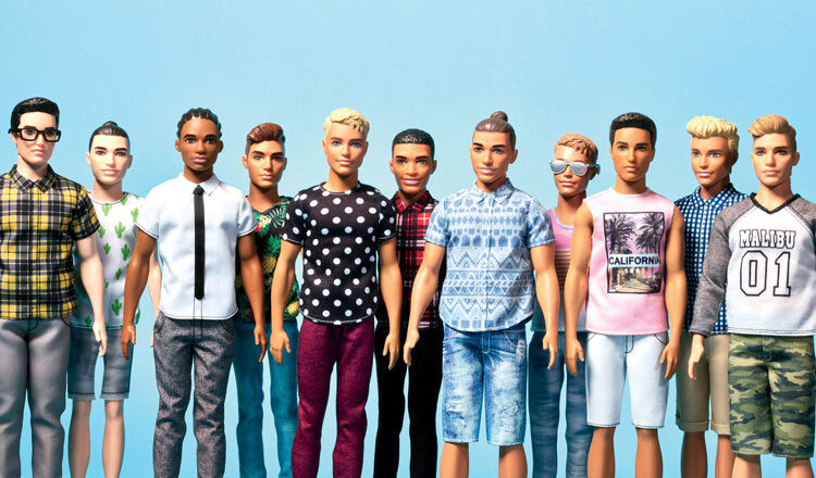 new hipster man bun Ken dolls