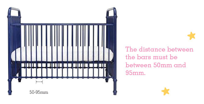 Safely setting up a baby's cot