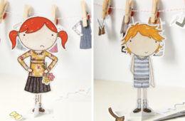 Clara and Macy Paper Dolls