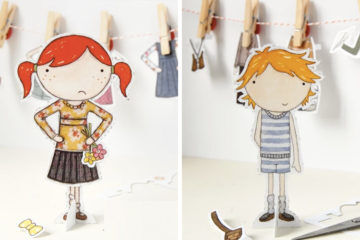 Clara and Macy Paper Dolls