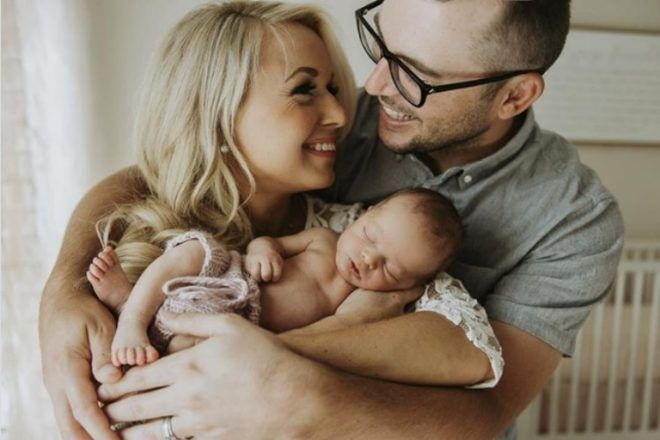 Happy new family with newborn Jean Smith Photography