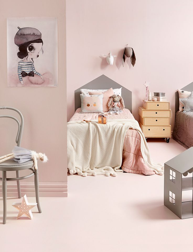 soft pink walls and carpet in pretty girl's bedroom pink children's bedrooms