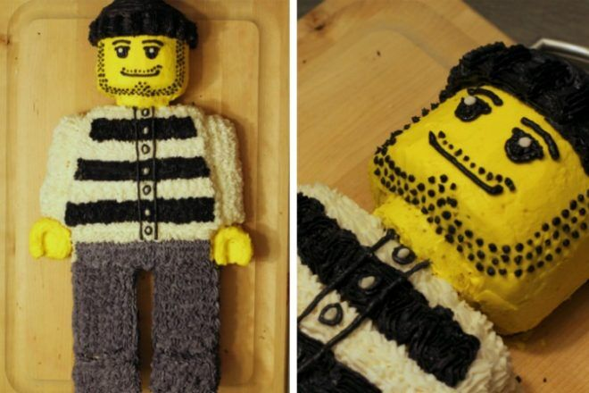 Lego cake from slab
